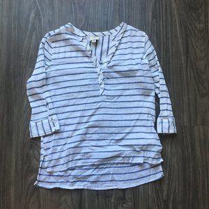 Beachy 3/4 Sleeve Striped Shirt